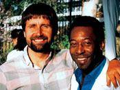 Brian Rudge with soccer legend Pele
